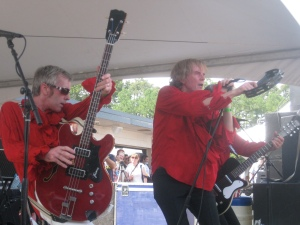The Woggles work the crowd.