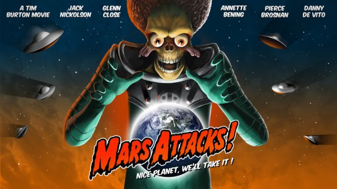 Mars Attacks quad